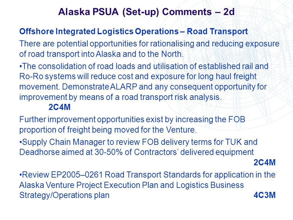 Alaska PSUA (Set-up) Comments – 2d