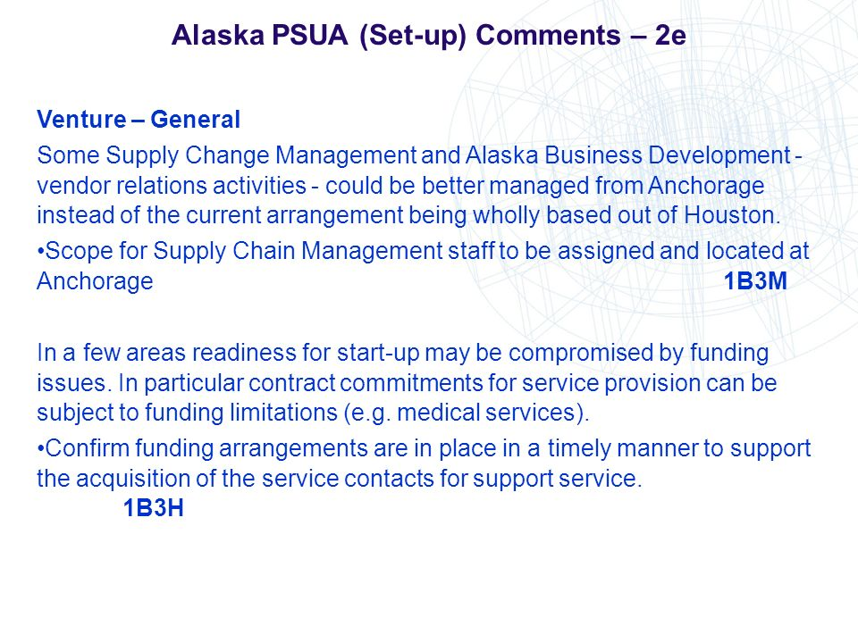 Alaska PSUA (Set-up) Comments – 2e