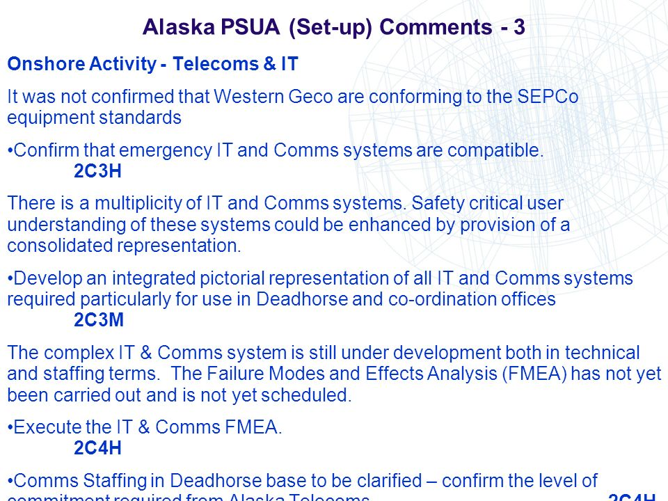 Alaska PSUA (Set-up) Comments - 3