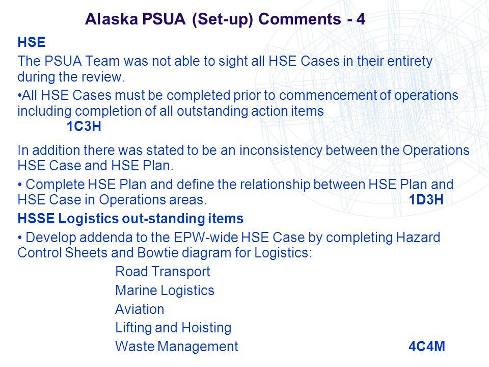 Alaska PSUA (Set-up) Comments - 4
