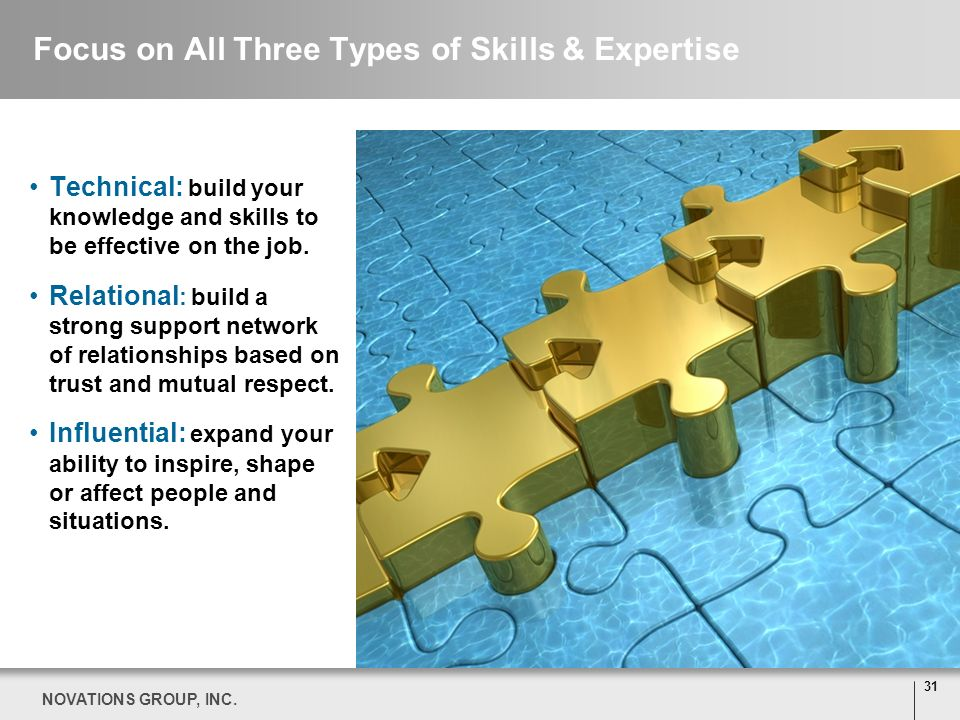 Focus on All Three Types of Skills & Expertise
