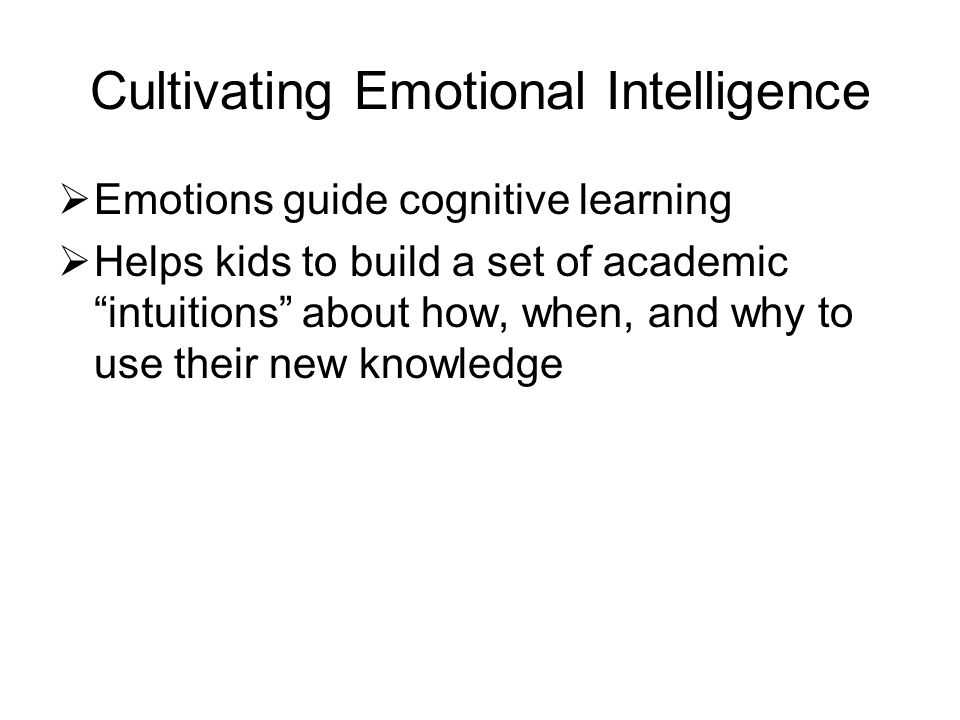 Cultivating Emotional Intelligence