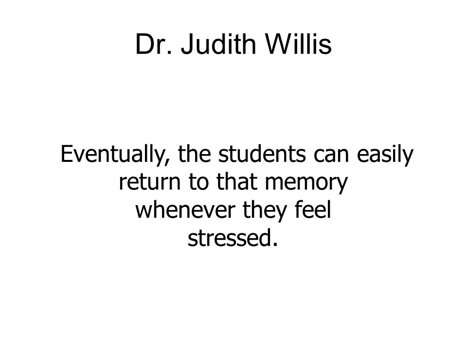 Eventually, the students can easily