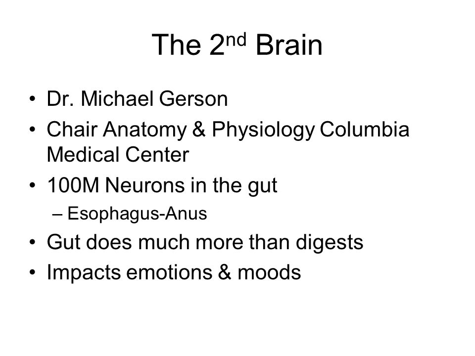 The 2nd Brain Dr. Michael Gerson