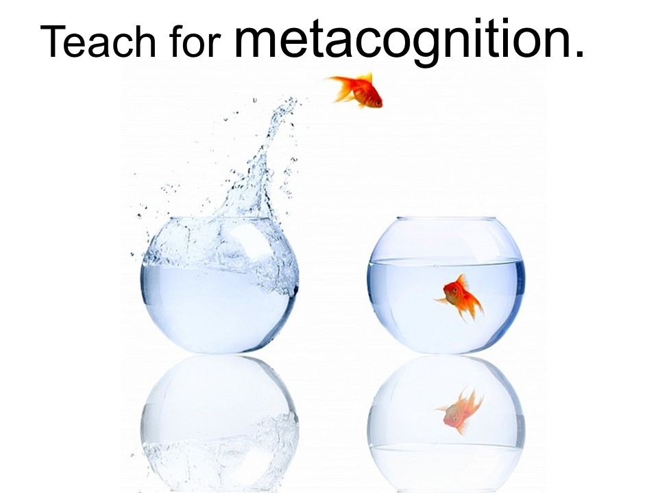 Teach for metacognition.