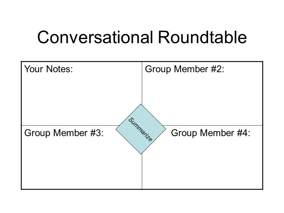 Conversational Roundtable