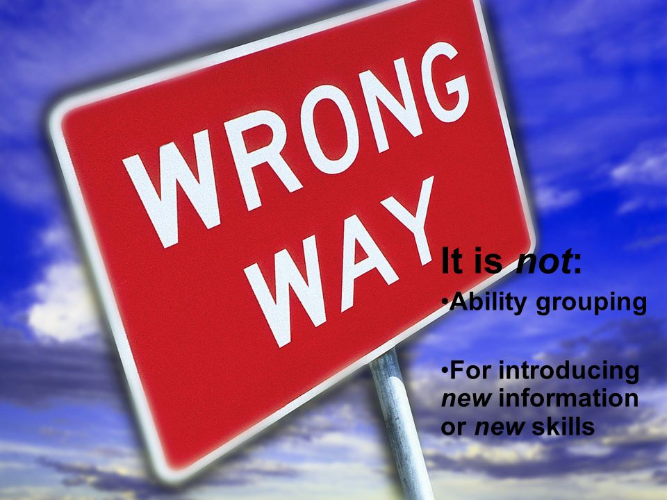 It is not: Ability grouping