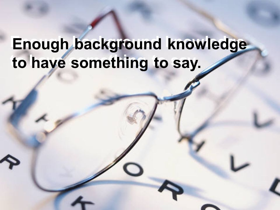 Enough background knowledge