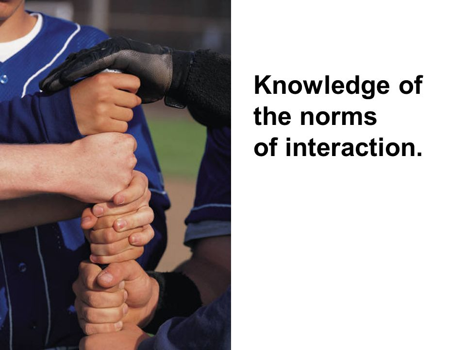 Knowledge of the norms of interaction.