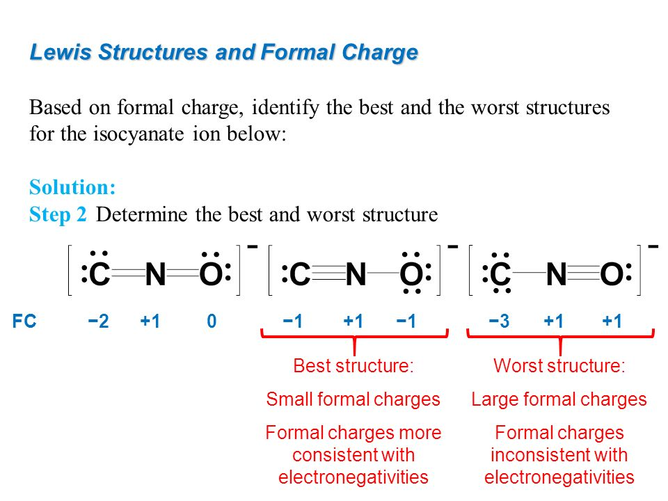 Lewis Structures and Formal Charge