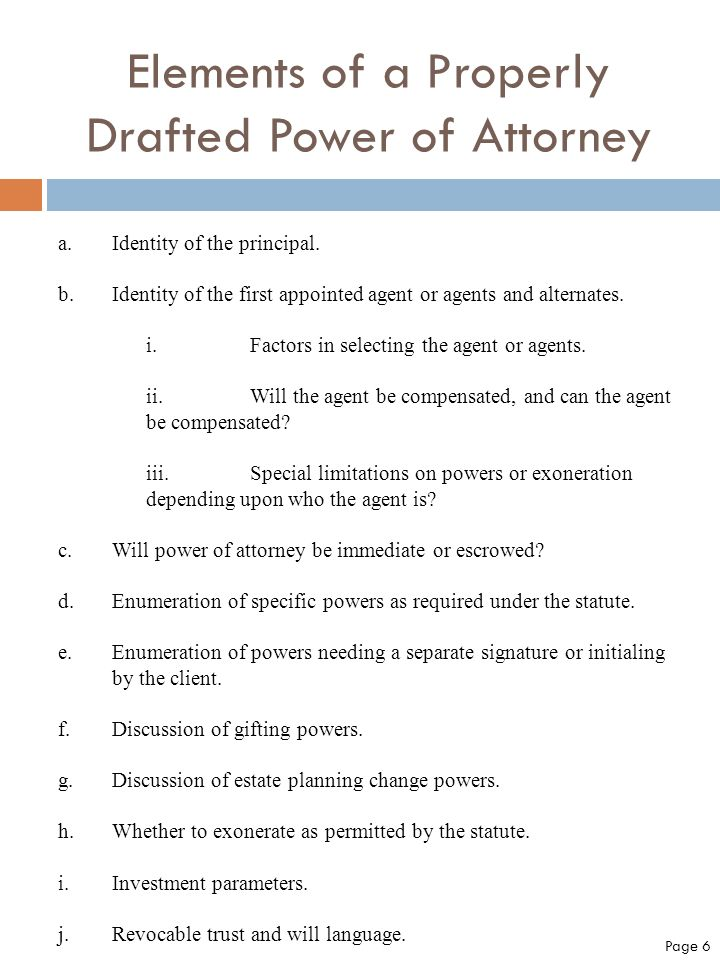 Drafting Durable Powers Of Attorney For The New Florida Law With