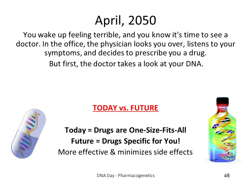Future = Drugs Specific for You!