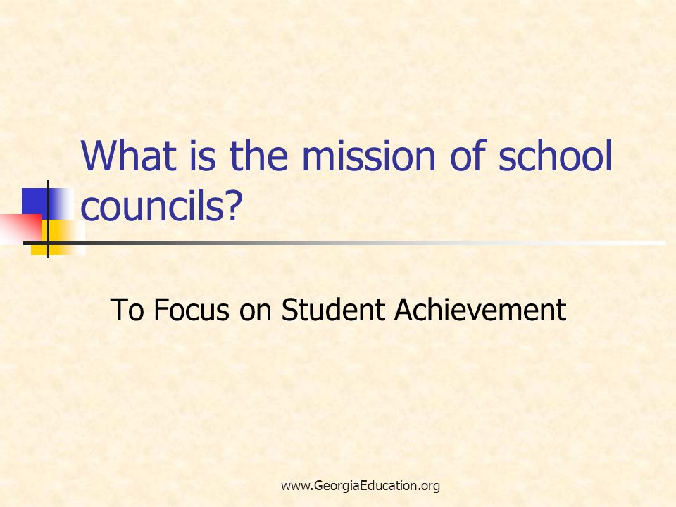 What is the mission of school councils