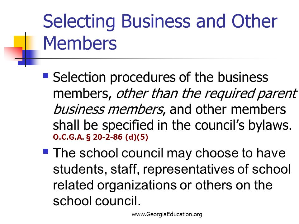Selecting Business and Other Members