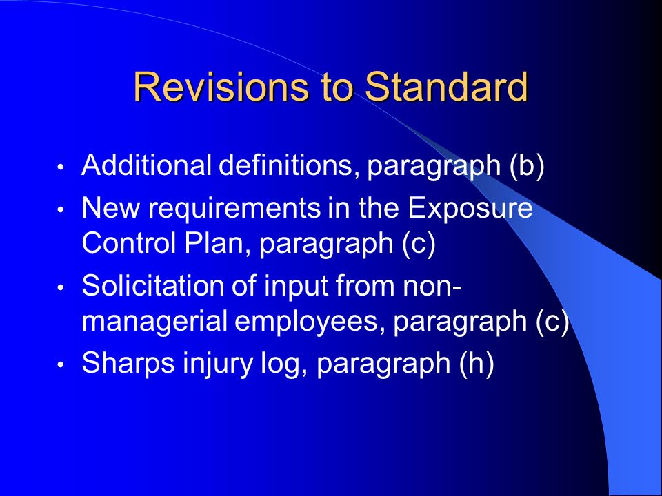 Revisions to Standard Additional definitions, paragraph (b)