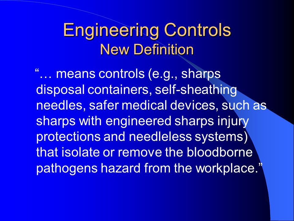Engineering Controls New Definition
