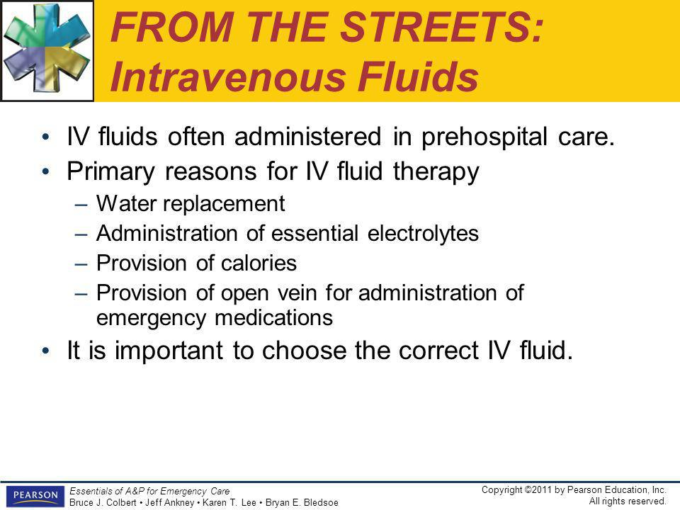 FROM THE STREETS: Intravenous Fluids