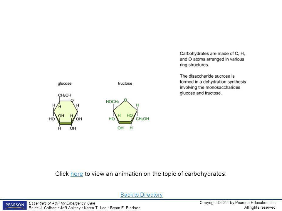 Click here to view an animation on the topic of carbohydrates.