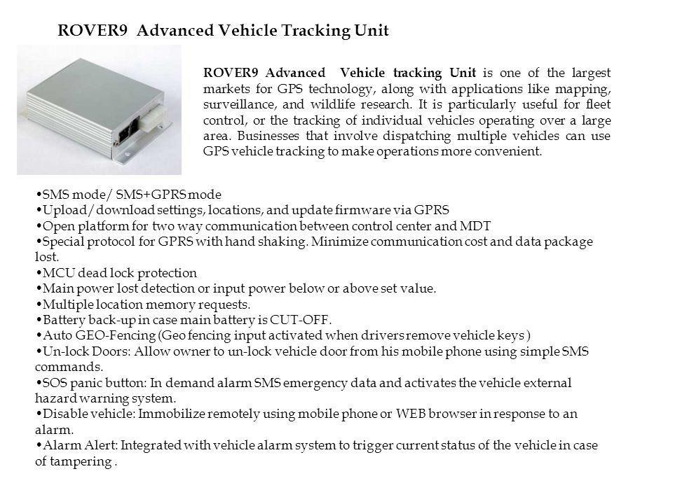 ROVER9 Advanced Vehicle Tracking Unit