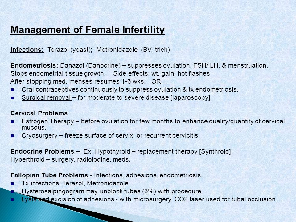 Management of Female Infertility