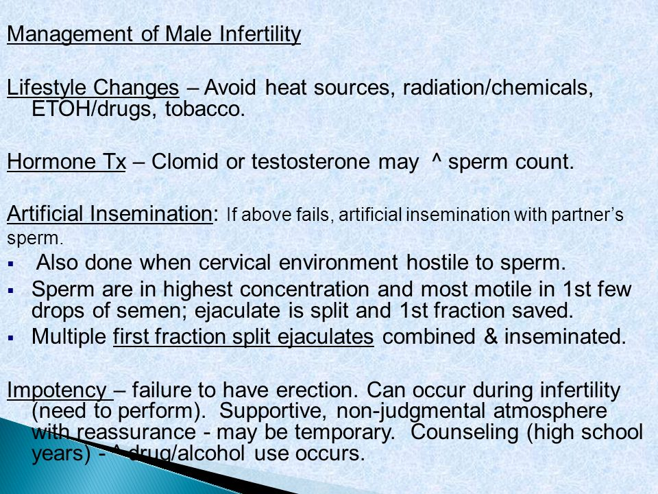 Management of Male Infertility