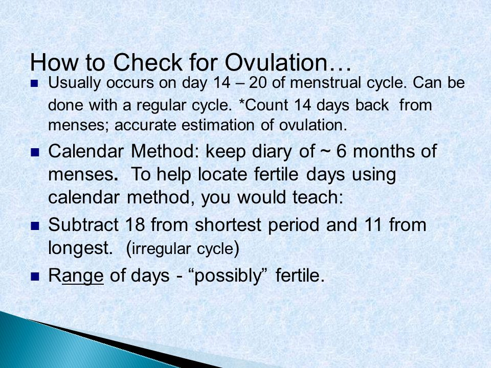How to Check for Ovulation…