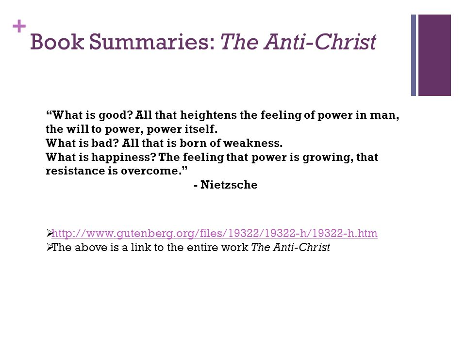 Book Summaries: The Anti-Christ