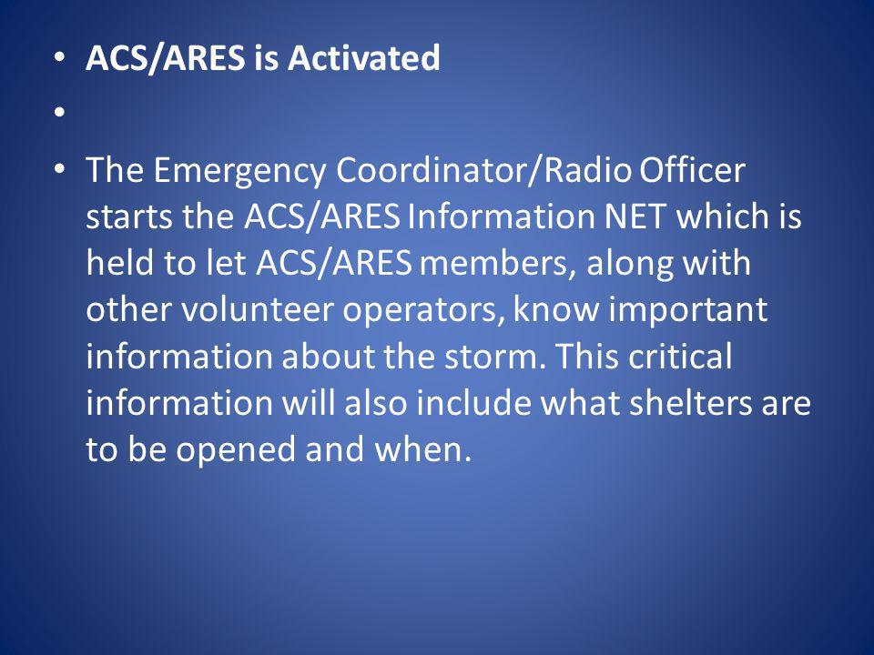 ACS/ARES is Activated