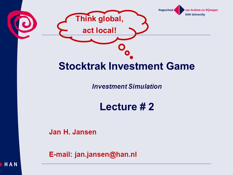 Stocktrak Investment Game Investment Simulation Lecture # 2