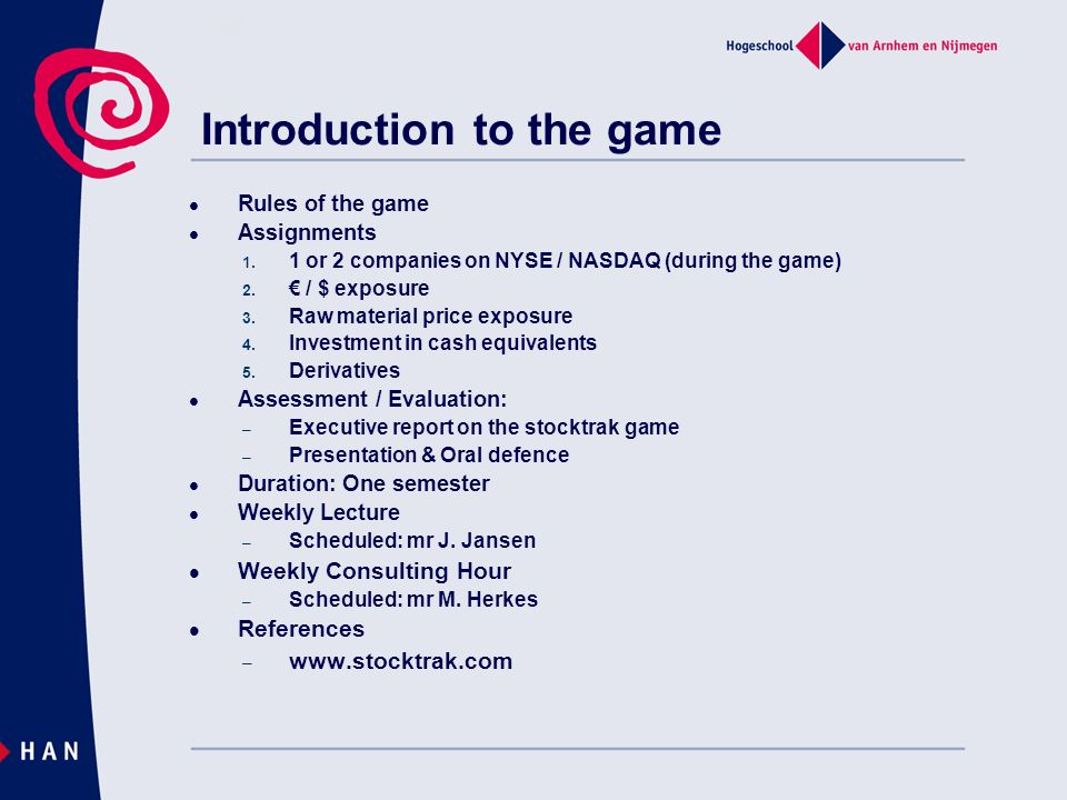 Introduction to the game