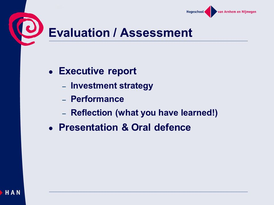 Evaluation / Assessment
