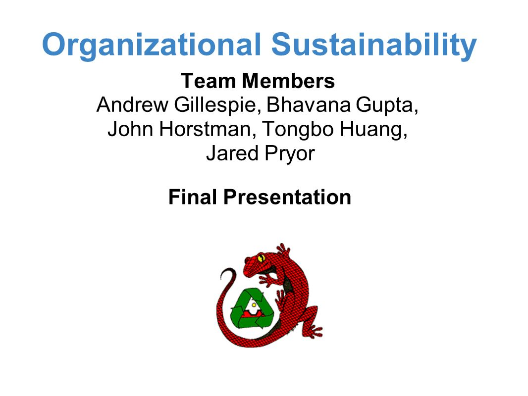 Organizational Sustainability