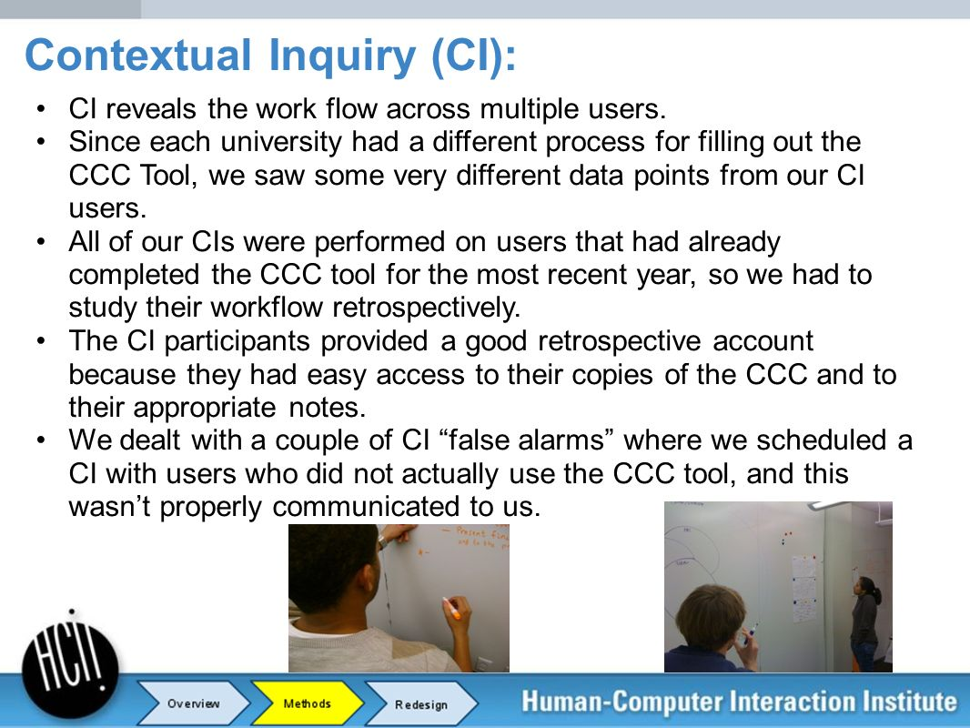 Contextual Inquiry (CI):
