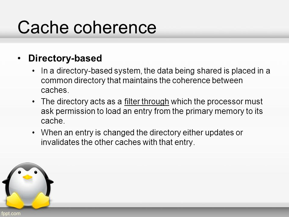 Cache coherence Directory-based