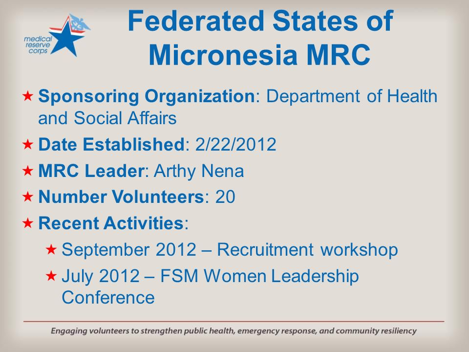 Federated States of Micronesia MRC