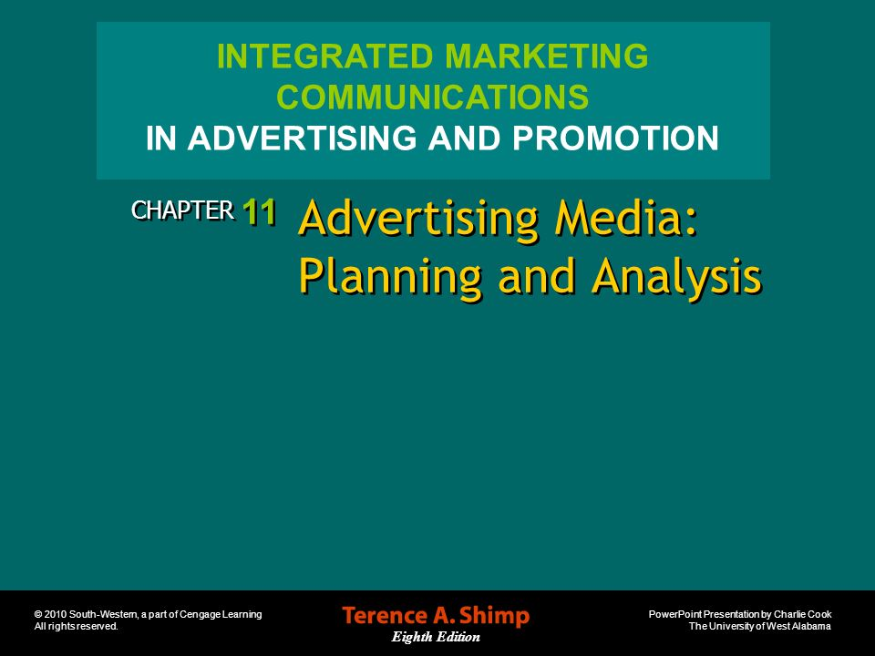 Advertising Media: Planning and Analysis