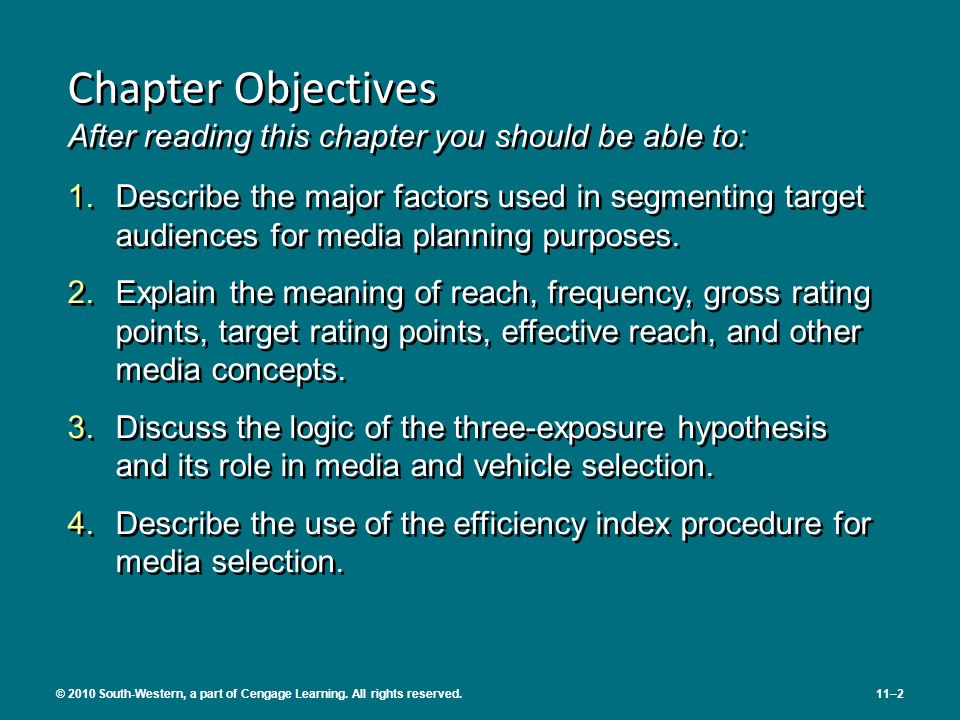 Chapter Objectives After reading this chapter you should be able to: