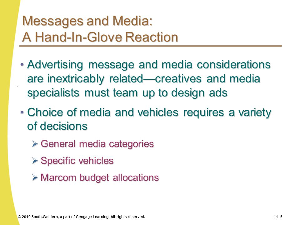 Messages and Media: A Hand-In-Glove Reaction