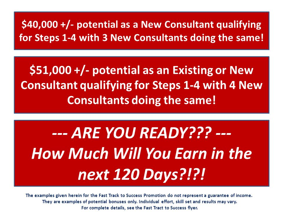 How Much Will You Earn in the next 120 Days ! !