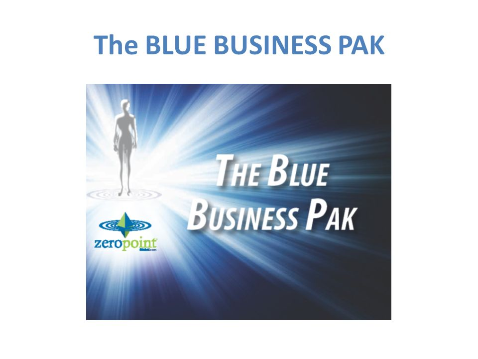 The BLUE BUSINESS PAK