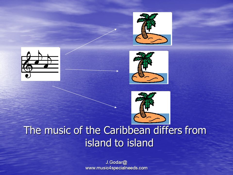 The music of the Caribbean differs from island to island