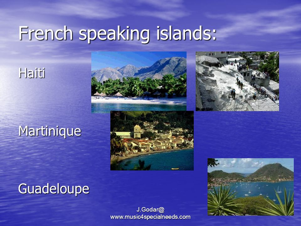 French speaking islands: