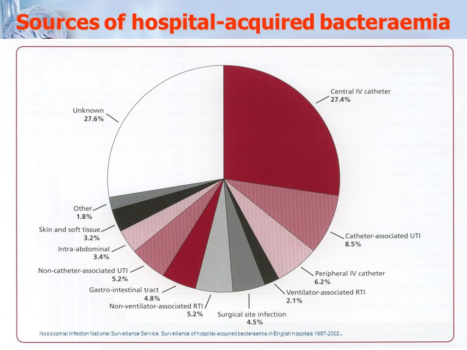 Sources of hospital-acquired bacteraemia
