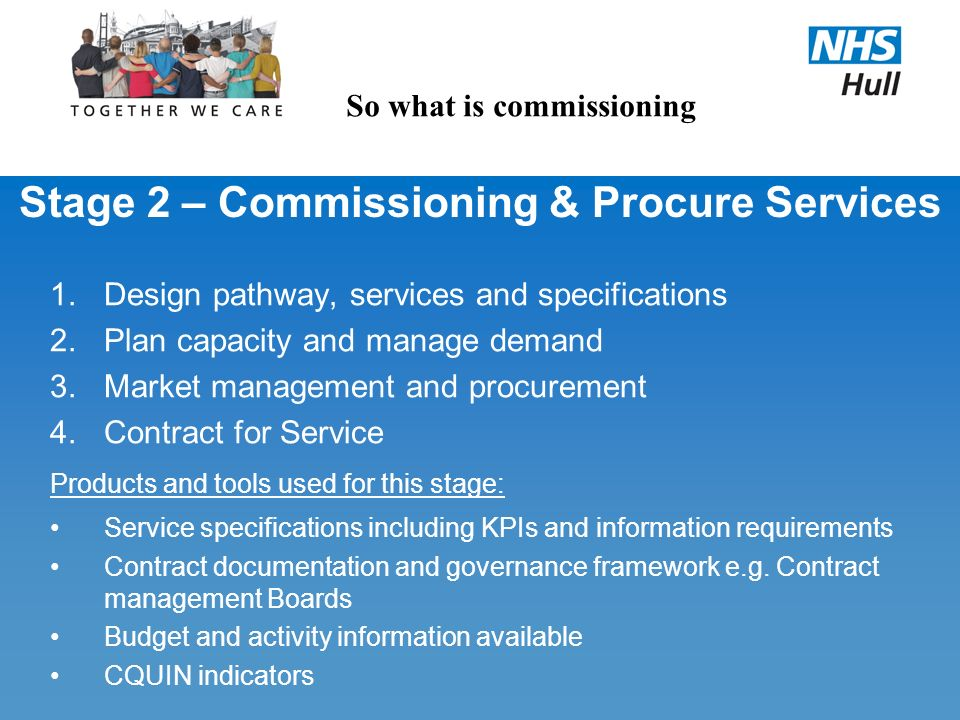Stage 2 – Commissioning & Procure Services