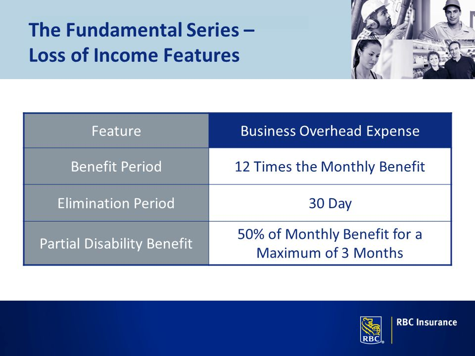 The Fundamental Series – Loss of Income Features