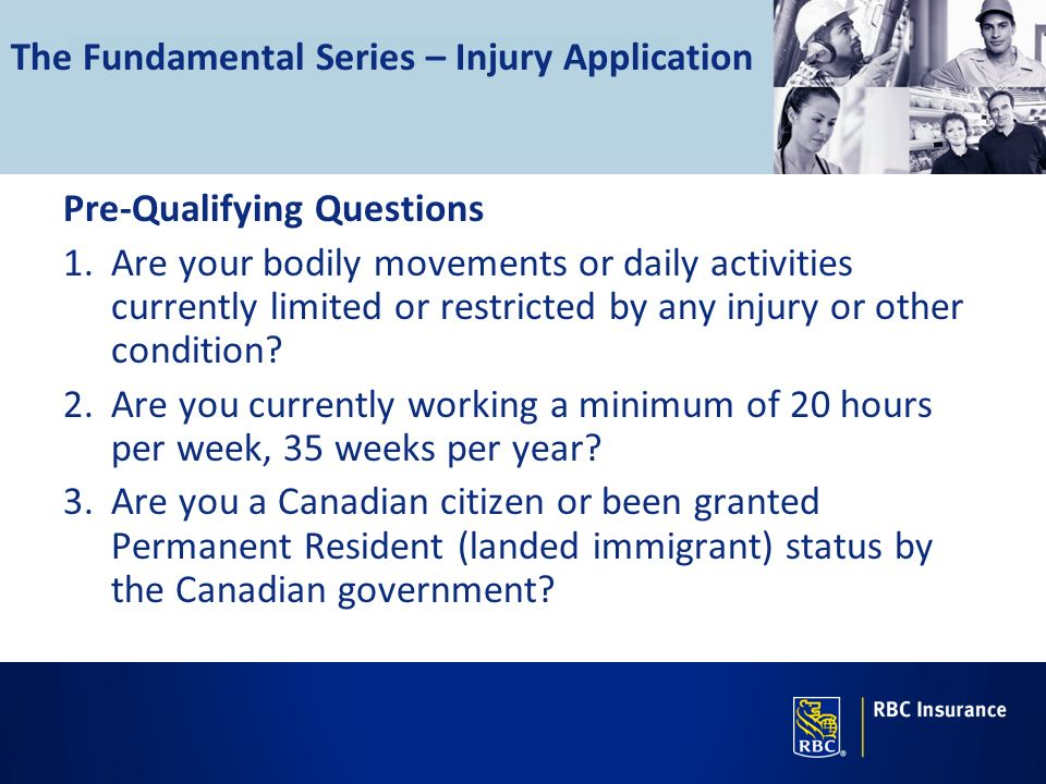 The Fundamental Series – Injury Application