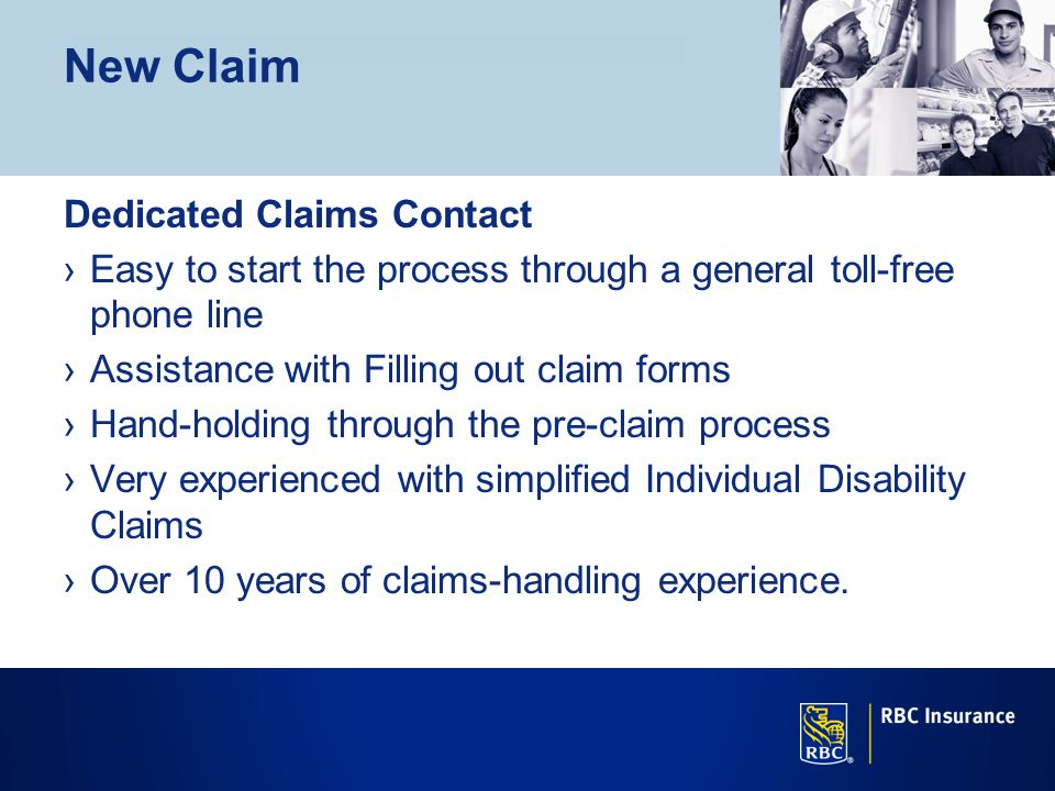 New Claim Dedicated Claims Contact