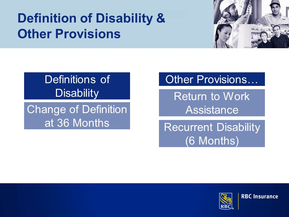 Definition of Disability & Other Provisions