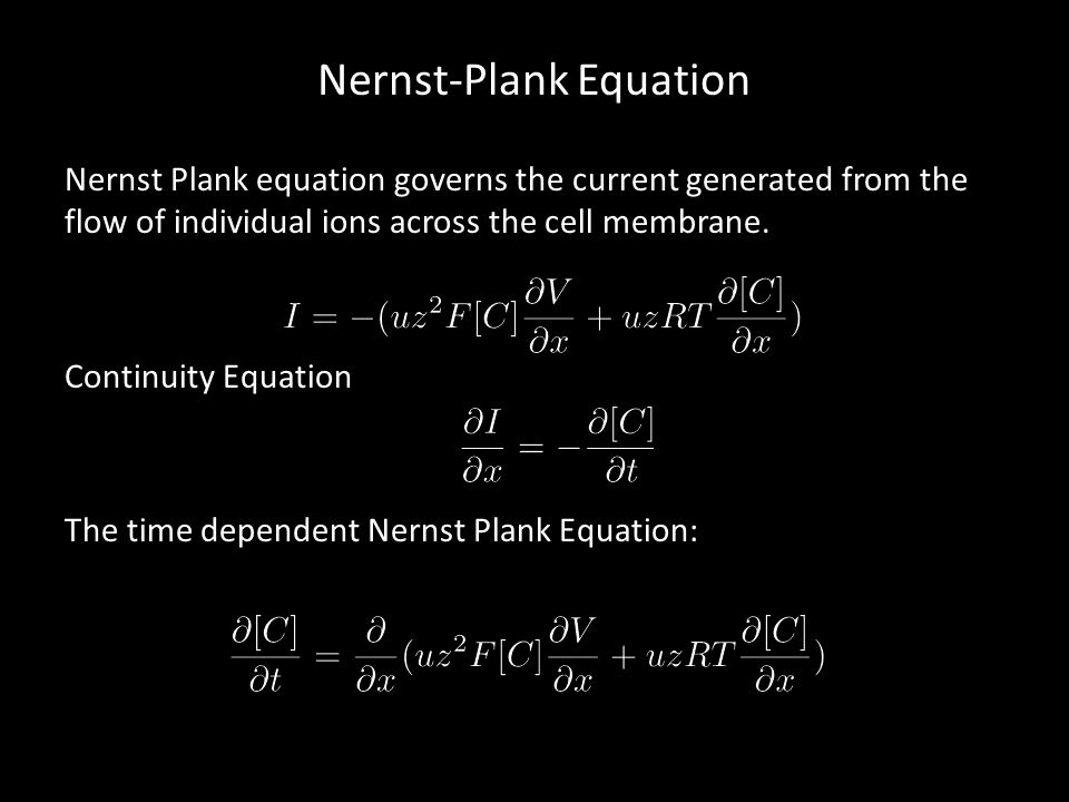 Nernst-Plank Equation