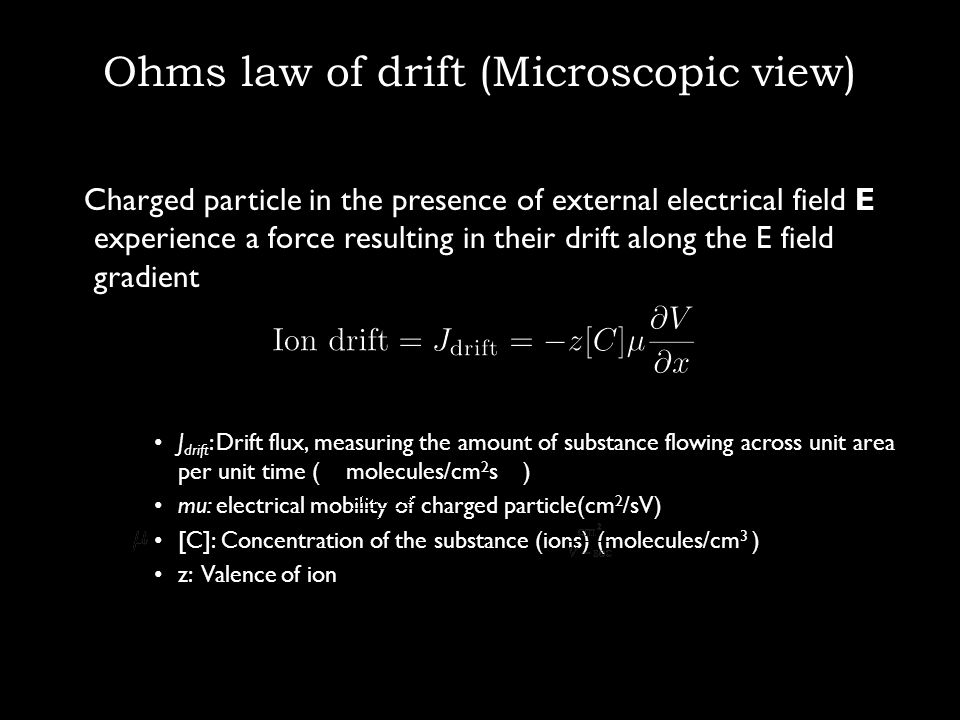 Ohms law of drift (Microscopic view)